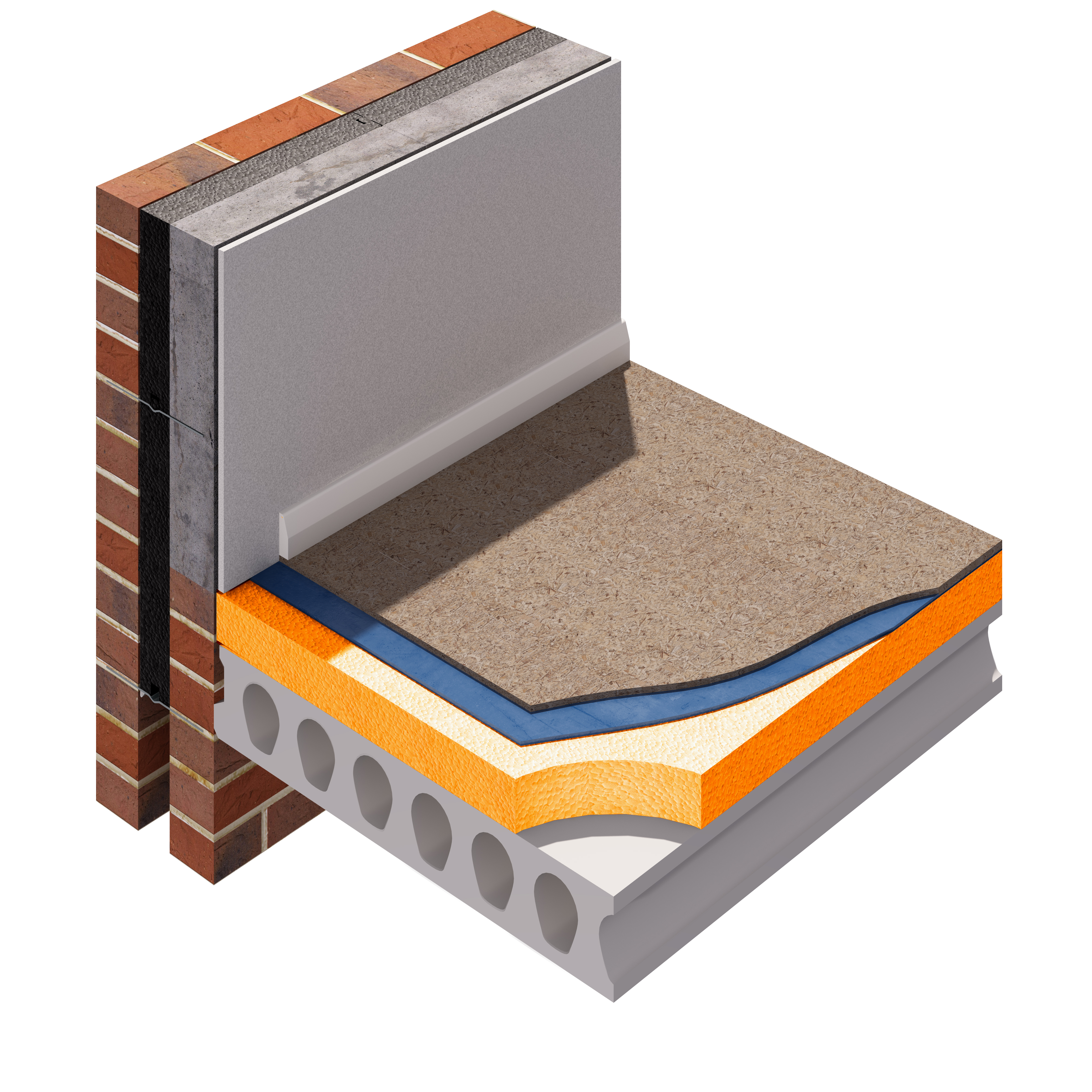 Hollow Core Concrete Floor : Insulation for ground floors jablite